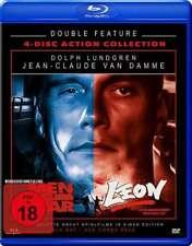 Uncut LEON + MEN OF WAR Jean Claude van Damme + Dolph Lundgren BLU-RAY DVD Box
