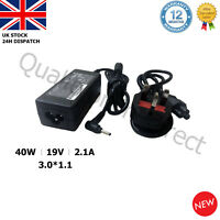 Samsung 19V 2.1A 40W Laptop Charger AC Adapter for NP900X3A NP900X3B NP900X3C