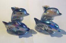 2 x 2 dauphins en porcelaine – pique fleurs -