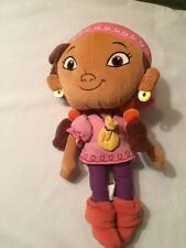 Disney World Park Jake And The Neverland Pirates Izzy Girl Pirate Plush Doll 12""