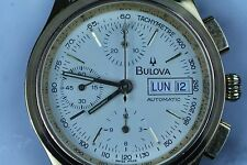 vintage bulova gold filled chronograph automatic wristwatch italian