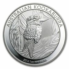 2014 Australia Kookaburra 1 oz .999 Silver Coin - BU Direct from Perth Mint Roll