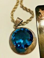 STERLING SILVER NECKLACE WITH A MESMERIZING BLUE STONE