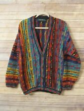 Tundra Canada Cardigan Sweater Textured Biggie Cosby Multicolor Vtg Sz S