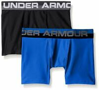 Under Armour Boys Original Series Boxerjock - Pack of 2 Ultra Blue and Black YXS