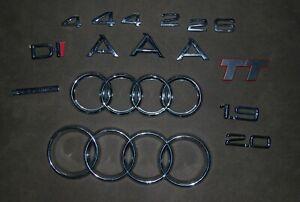 16x Audi 80 100 A4 Quattro 2.0 1.9 Ringe Schriftzug Embleme Abzeichen Aufkleber