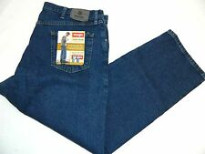 Fit: 40x30 New Wrangler Relaxed Fit Dark Stonewashed Denim Blue Jeans Tag: 42x30