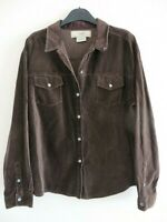 Laura Ashley Women's Country Brown Vintage Suede Style Long Sleeved Shirt UK 18.
