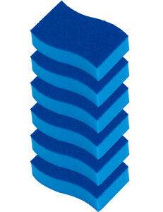 ELITRA Antimicrobial Non-Scratch Scrubber Cleaning Sponge, Pack of 6 - Blue