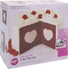 Wilton Heart Tasty-Fill Cake Pan Set 2pcs Baking Supplies