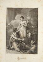 F STÖBER (1795-1858) BELLE GRAVURE PYGMALION MYTHOLOGIE NÉOCLASSIQUE EMPIRE 1815