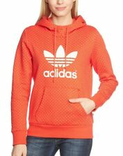 adidas Originals Damen kapuzenpullover Trefoil Diamond Hi-Res Orange/Running Neu
