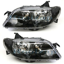02-03 Protege5 Hatchback Headlight Black Bezel Headlamp Left Right Side Set PAIR