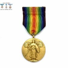 WWI U.S. VICTORY MEDAL RING-TOP VARIATION FULL WRAP BROOCH WW1
