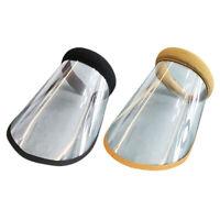 Anti-poussière Unisexe Plein Visage Protection UV Visière Chapeau Équitation