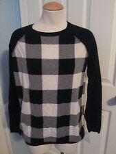 autumn cashmere buffalo check sweater s    #457