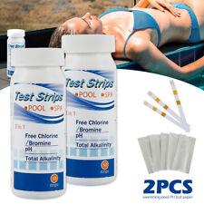 More details for 100 chlorine dip tester strips hot tub swimming pool ph tester paper 2bottles