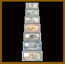 Lebanon 1 - 250 Lira (Livres) (7 Pcs Set), 1980-1988 P-61-67 Unc /LA176