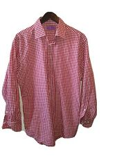 Lorenzo uomo shirt Red Plaid Shirt Trim Fit Size  L