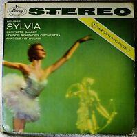 Delibes Sylvia Anatole Fistoulari Mercury Living Presence Stereo 2-LP Original
