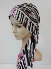 Women headscarf, full turban hat with ties, chemo head wear, full head covering