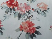 Sanderson Curtain Fabric 'Rhodera' 3.1 METRES (310cm) Coral - 100% Linen