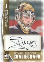 2013-14 ITG Between the Pipes Autograph #A-JHE1 Johan Hedberg Auto Penguins