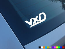 VXD LOGO CAR STICKER FUNNY CORSA ASTRA JDM DECAL WINDOW DIESEL REMAP VECTRA