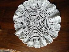 NAPPERON coton blanc au crochet 38 cm@OLD