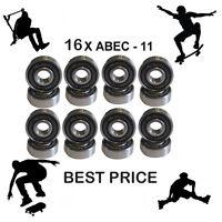 16 Abec 11 608 Wheel bearing Skateboard scooter Quad inline Roller skate 5 7 9