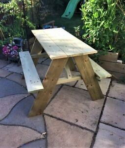 Child's handcrafted made to order Picnic Bench