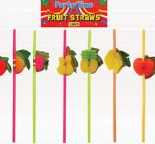 12 Hawaiian Frutas Panal Popotes-Luau loot/party Bolsa potable wedding/kids