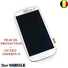 Original Samsung Galaxy S3 i9300 LCD Display Frame Digitizer Touchscreen Blanc