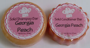 Georgia Peach Solid Shampoo & Solid Hair Conditioner Bar Set Health & Beauty