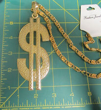 New Big Dollar sign on gold colored chain - chunky chain with $ sign gold color