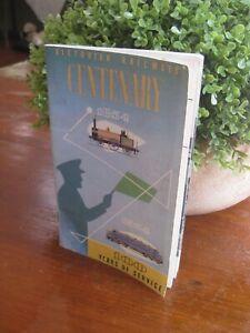 Victorian Railways Centenary booklet - 1854 - 1954 - good condition
