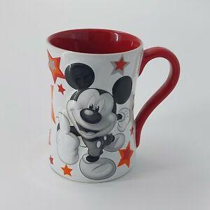 Mega Mickey Disney Star Mug Disney Store Exclusive Mickey Mouse Red