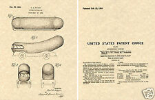 WIENERMOBILE 1954 Patent Art Print READY TO FRAME!!!! Oscar Mayer Weinermobile