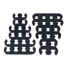 2sets 7mm 8mm Black Spark Plug Wire Separators Dividers Looms 9728 For Sbc Bbc