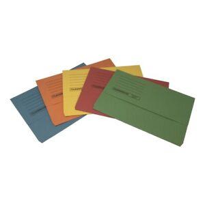 10  Foolscap Heavyweight Document Wallets A4 Paper Cardboard Files Folders