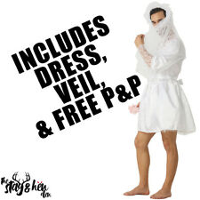 Stag Do Wedding Dress Night Party Funny Fancy Dress Costume Bride Outfit