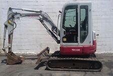 2014 Takeuchi TB138 FR Full Rotation Mini Excavator Digger - 1998 Hrs - 8316 lbs