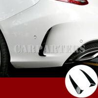 For Benz C Class W205 C43 C63 AMG Black Rear Bumper Spoiler Air Vent Trim Cover