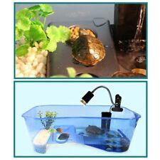 Aquarium Tank Reptile Turtle Vivarium Box With Basking Ramp Breeding Food Tool