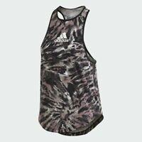 Adidas Training UNIV Tank 2 Black White Women workout gym running New GK5142