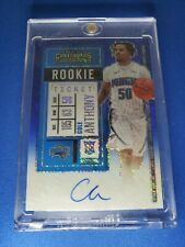 2020-21 Panini Contenders Basketball Cole Anthony Blue Shimmer Prizm On Card...