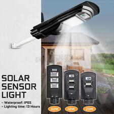 40/80/120 LED Solar Powered Street Light Outdoor Commercial Motion Sensor Lamps