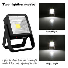 Black Solar Power Fishing Lamp Camping LED Lights Micro USB Rechargeable 6000k