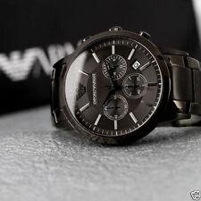 Authentic Emporio Armani AR-2454, Full Grey Tone Men's Chronograph Watch
