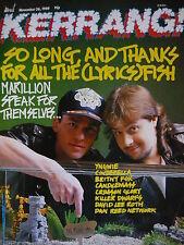 Kerrang 215 - Marillion/Candlemass/Britny Fox / Da Vinci /Killer Enanos/ Yngwie
